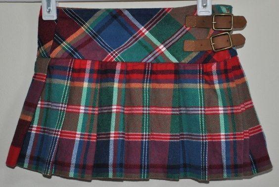 Ralph Lauren Girls Baby Plaid multi color 100% Cotton Ruffle Skirt size 2T  #RalphLauren #Everyday  $11.92