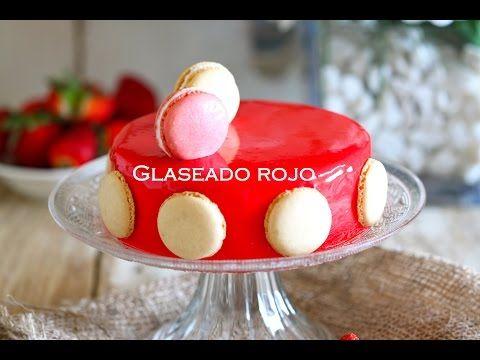 Como preparar glitt de fresa o espejo para pastel (glase o brillo) - YouTube