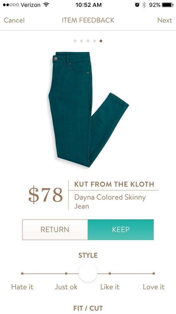 Stitch Fix - Kut from the Kloth Dayna Colored Skinny Jeans in Teal