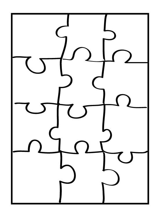 Puzzle Coloring Pages Puzzle Piece Template Puzzle Pieces