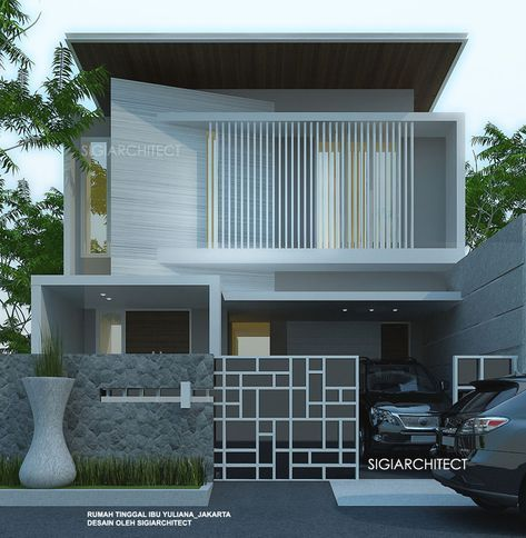 Model Rumah Modern 2018 2 Lantai Contemporary House House Design Exterior House Colors
