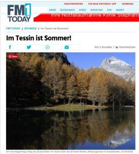 瑞士南部聖誕氣溫去到20攝氏度