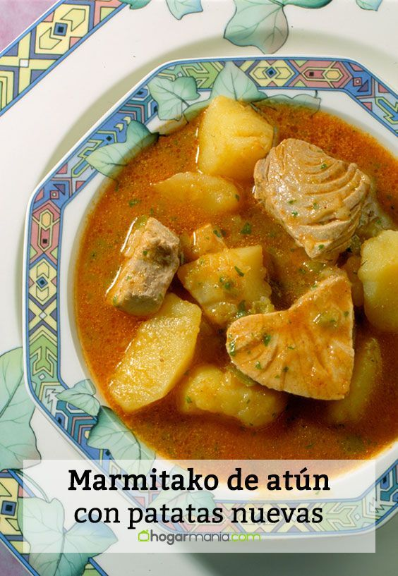 Receta De Marmitako De Atún Con Patatas Nuevas Karlos Arguiñano Marmitako De Atun Recetas De Comida Comida