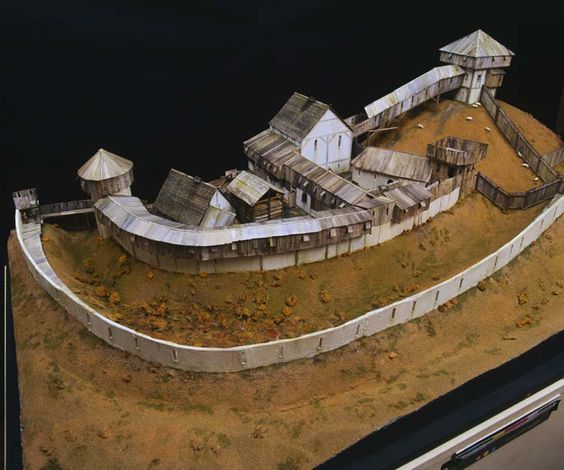 Reconstruction model of Hen Domen, a Norman motte and bailey castle near Montgomery [image 1 of 5]