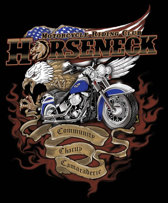 Five color illustration for a Motorcycle Club t-shirt.  Ty Meier www.screenprintprepress.com