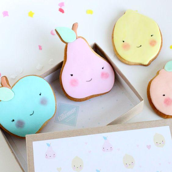 H A B I T A N 2 Decoración handmade para hogar y eventos www.habitan2.com  Fruit cookies by #eeflillemor