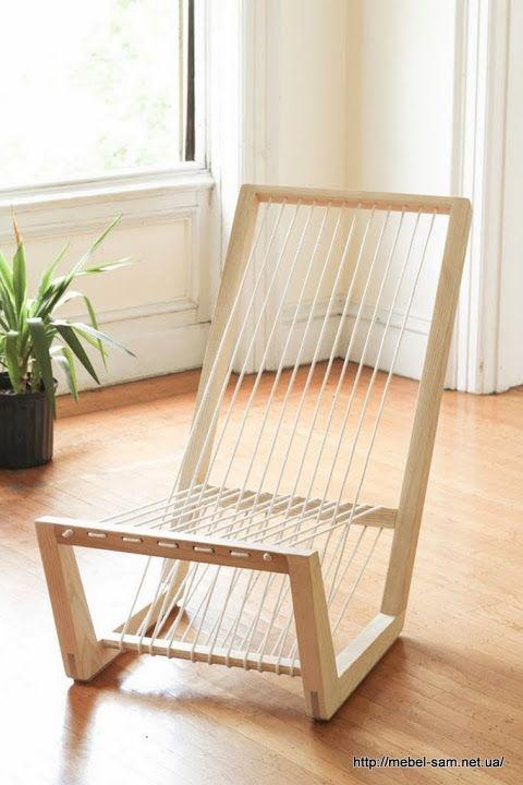 Внешний вид необычного, но удобного деревянного кресла