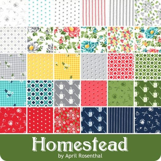 2020 Christmas Collections Fabric Homestead MINI Charm Pack Reservation | April Rosenthal for Moda