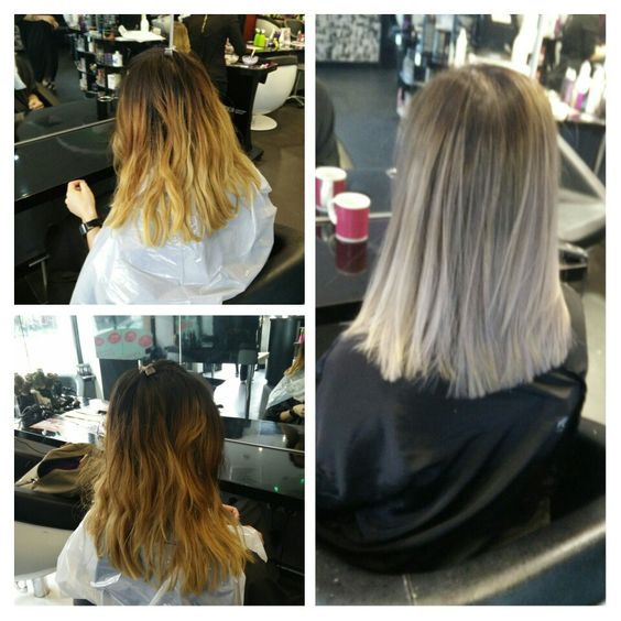 Changing it up! Violet, silver hair courtesy of Carly at Muse of London