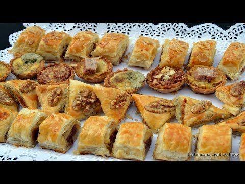 Hojaldres Salados Rellenos Tres Rellenos Fáciles Y Originales Y Tartaletas Youtube Aperitivos De Hojaldre Aperitivos Salados Hojaldres