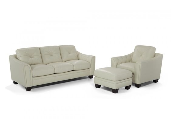 Marisol Leather Sofa, Chair U0026 Ottoman | Sofa Chair, Leather Sofas And Discount  Furniture