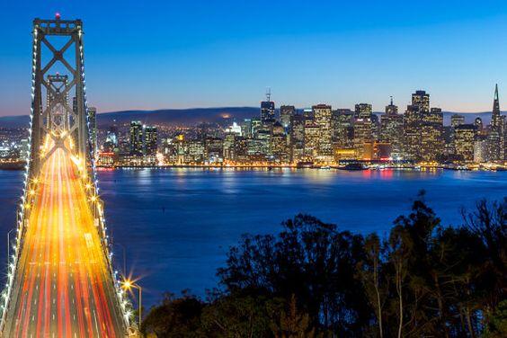 #SanFrancisco Skyline and #BayBridge at Night by DaveGordonPhotos