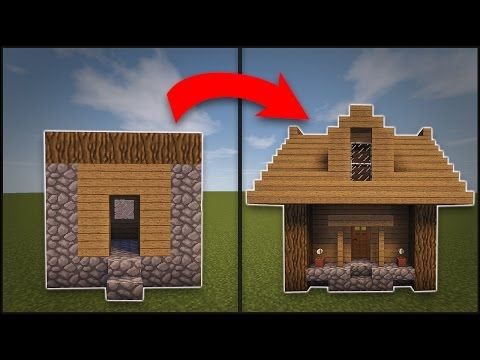 minecraft tutorial how to transform a small villager house - Smallest House In The World Minecraft