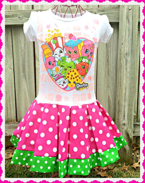 girls Shopkins dress Little Sweetie Smart Cookie 3T last two by BlossomBlueBoutique on Etsy https://www.etsy.com/listing/255532555/girls-shopkins-dress-little-sweetie