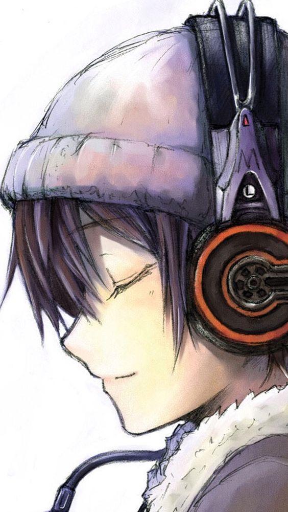 Garçon écoutant de la musique (manga)