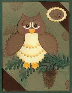 Owl card...hope I have the punches on hand to make this darling card!!!