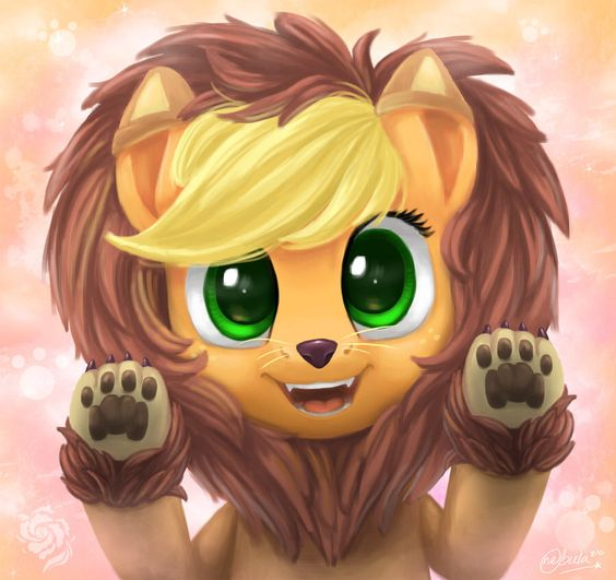 Applejack as a lion :):