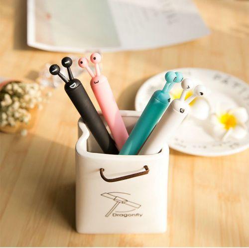 6pcs//set Novelty Cute Cartoon Gel Ink Pen Stationery School Supplies New Random