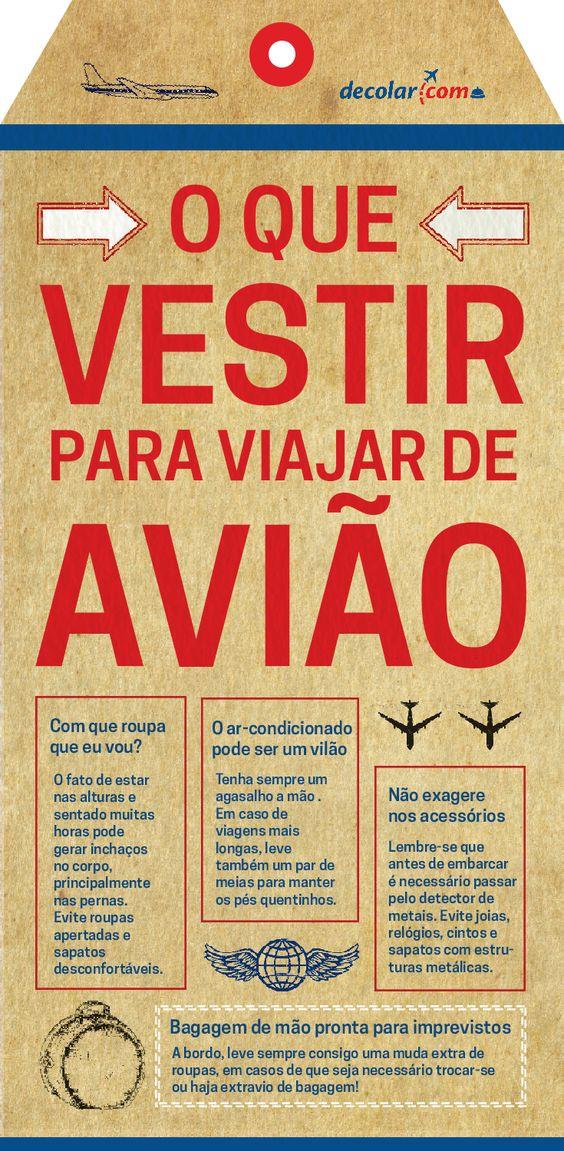 Muito útil O que usar na sua viagem de avião: