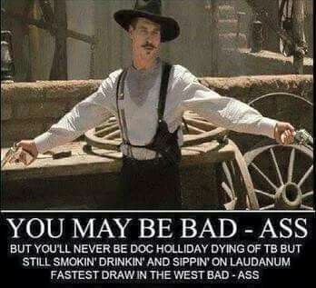 I'm your huckleberry!