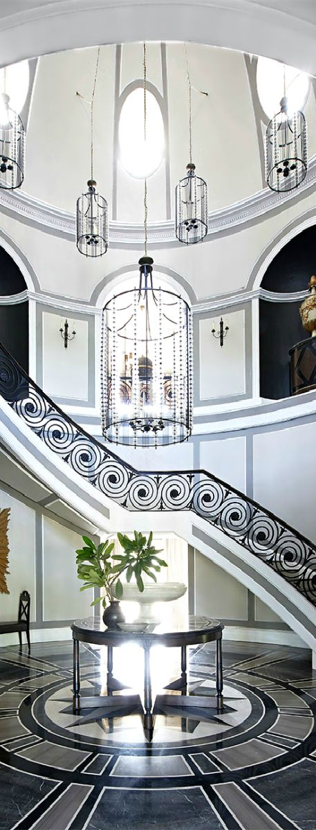 Luxury home design grand foyer ladyluxury color for Luxury foyer design