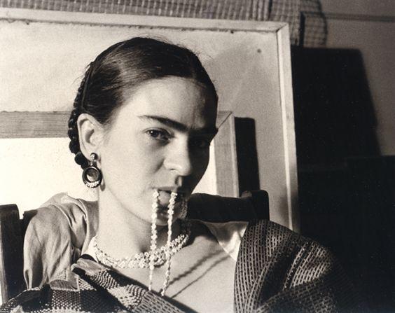 Image result for frida kahlo biting her necklace