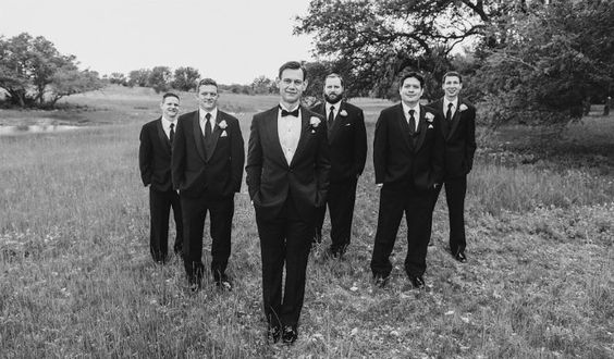 7 groom and groomsmen style tux modern jewish wedding blog