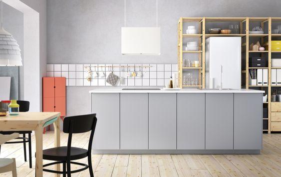 METOD keuken #IKEA #IKEAnl #grijs #modern #stellingkast