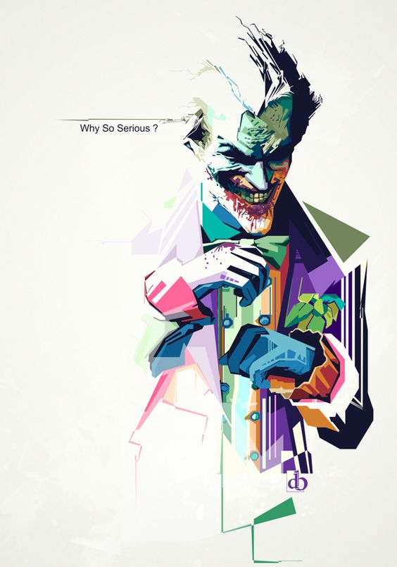The Joker by Denny Bangke , use colors