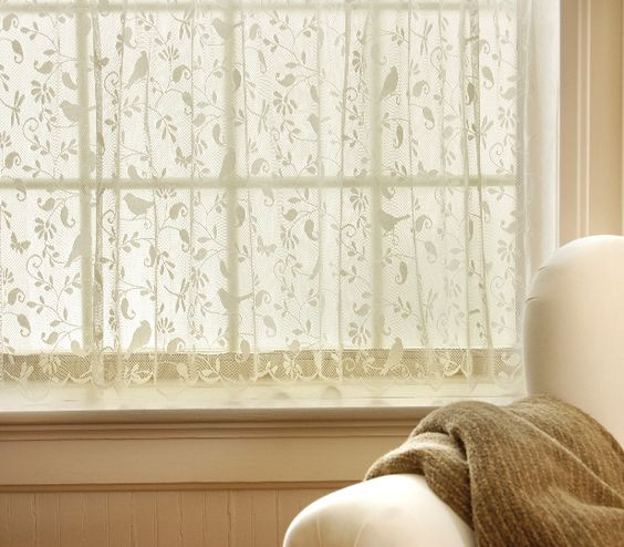 Nice, simple lace curtains