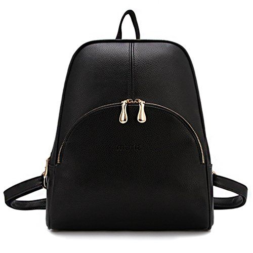 New Ladies White Stylish PU Leather Laptop iPad Womens Backpack Girls School Bag