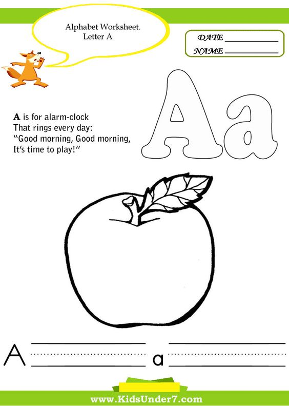 Kids Under 7 - a whole range of fun printable activities for 'kids ...