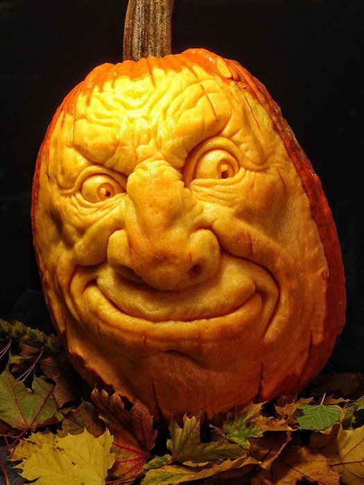 How To Carve A Realistic Face On A Pumpkin Pumpkin Sculpting Pumpkin Carving Pumpkin