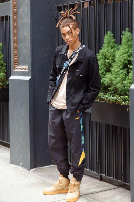 ハイカットスニーカー海外メンズコーデNew York Men's Fashion Week spring/summer 2020