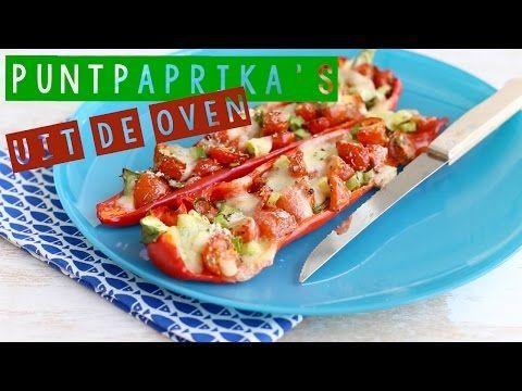 Puntpaprika met mozzarella uit de oven (+video) - Lekker en Simpel