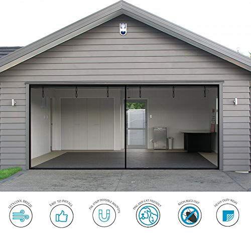 Garage Door Screen 2 Car 16x7ft Magnetic Closure Heavy D Https Www Amazon Com Dp B07pnpq2v5 Ref Cm Sw R Pi With Images Garage Screen Door Screen Door Fiberglass Mesh