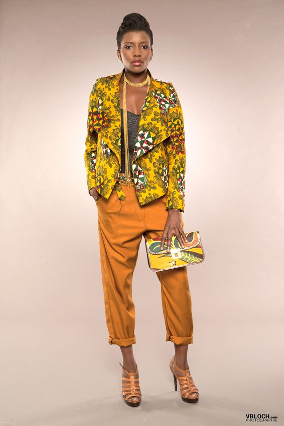 tailleur malya mansaya enpe2013ma pr t porter feminin en ligne en wax bogolan. Black Bedroom Furniture Sets. Home Design Ideas