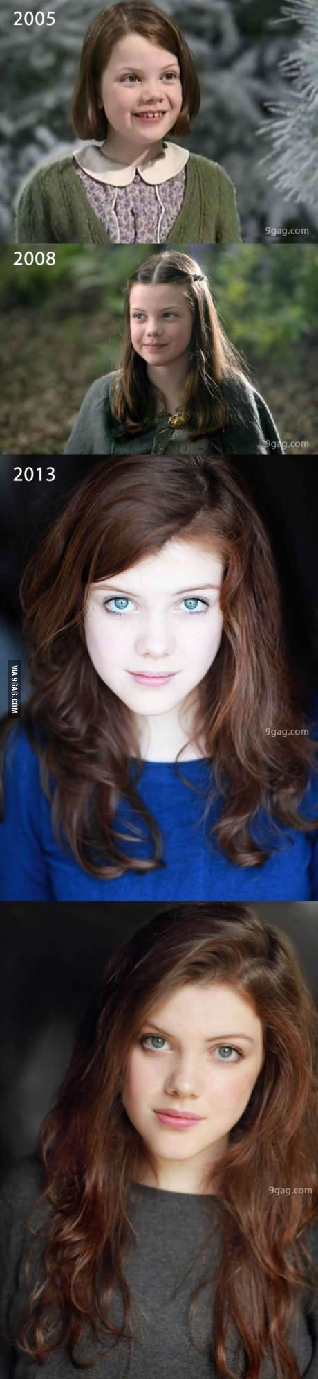 The magic of Narnia is real! Georgie is so beautiful now... Wow