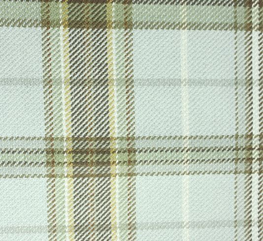 Imperial Plaid fabric Plaid fabric in soft aqua with chocolate ...