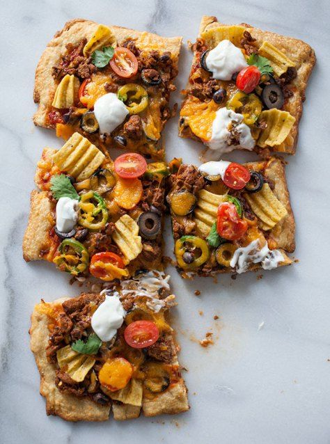 Seriously Delicious Taco Pizza   The Artful Gourmet