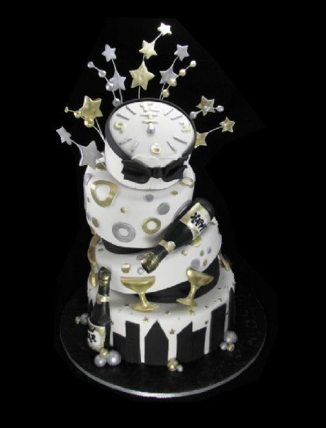 New Year Birthday Cake Images : new years cake Happy New Year s Cake Pinterest ...