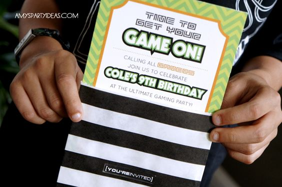 game truck gamer personalized photo birthday party by lulucole, Party invitations