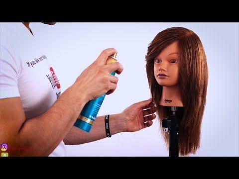 تعليم كيفية قص الغرة مدرج خطوة بخطوة شرح مفصل قص الغرة مدرج كيف تقص الغرة مدرج Youtube Long Layered Hair Face Framing Layers Long Hair Styles
