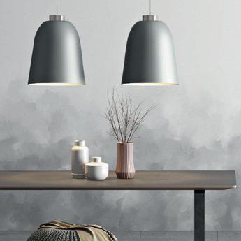 Suspension Summera L Blanc Brillant Cuivre O40cm H47 5cm Shapes Phoenix Design Luminaire Contemporain Luminaire