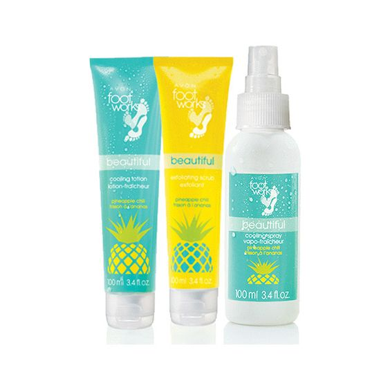 Foot Works Beautiful Pineapple Bundle ($24) ❤ liked on Polyvore featuring beauty products, bath & body products and spray deodorant