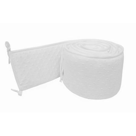 TL Care Heavenly Soft Minky Dot Crib Bumper, White