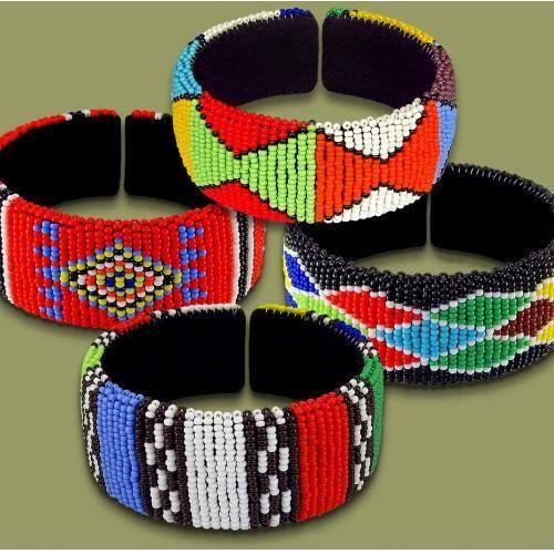 Beaded Bangles Zulu Beaded Cluster Bangles