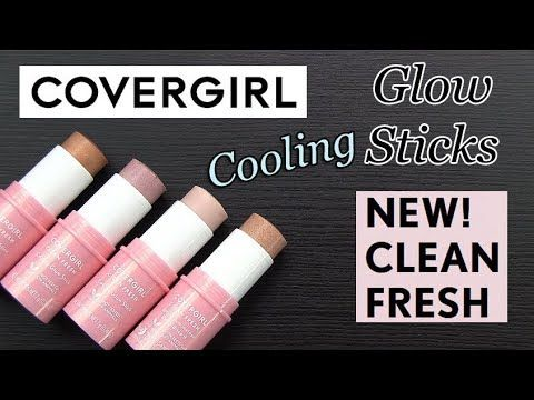Covergirl Clean Fresh Cooling Glow Sticks Real Swatches Review