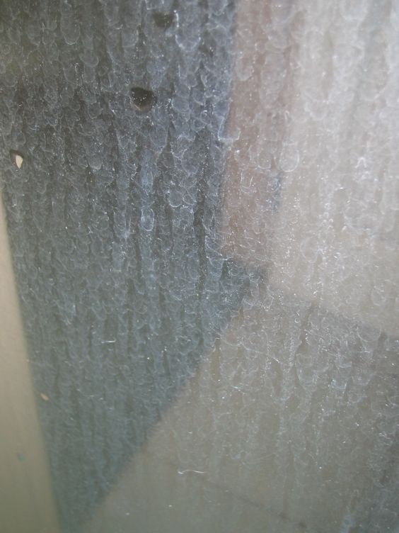 How to remove hard water mark stains on a shower glass door. Visit our link below to see how to accomplish this task in minutes!