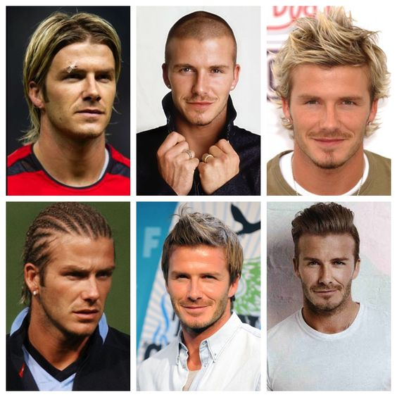 feather cut hairstyle : DavidBeckham #hair history #hairstyle evolution #hairstyles over the ...